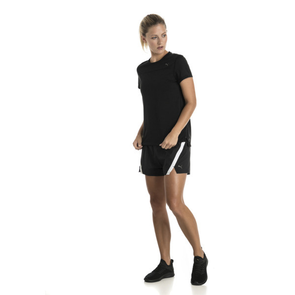 Women's Short Sleeve Tee, Puma Black, large