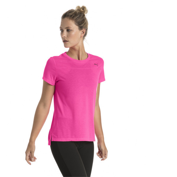 Women's Short Sleeve Tee, KNOCKOUT PINK, large