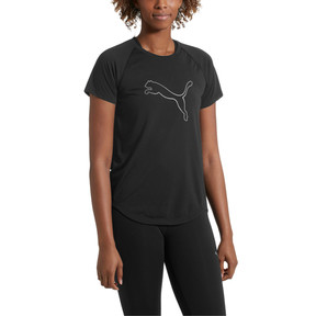 Thumbnail 2 of Short Sleeve Logo Women's Tee, Puma Black, medium