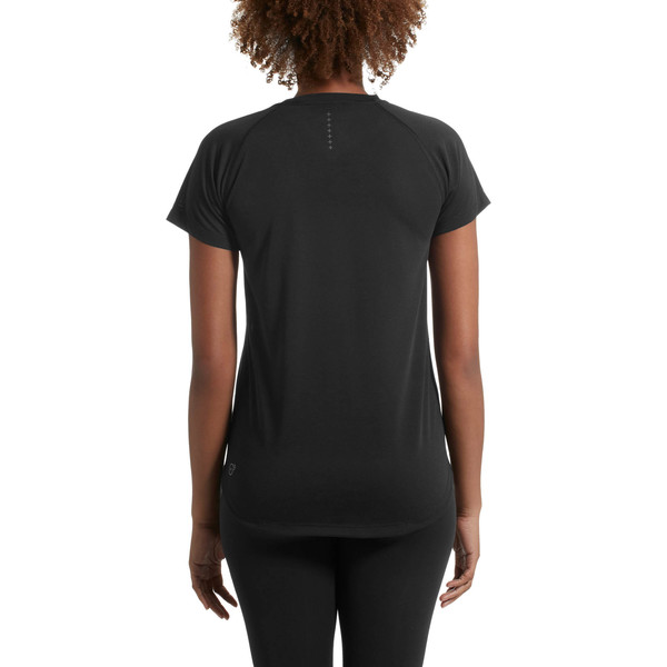 Short Sleeve Logo Women's Tee, Puma Black, large