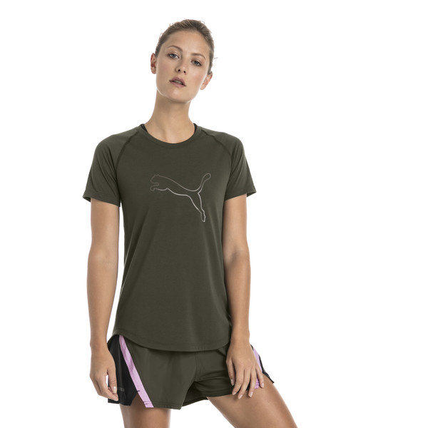 Short Sleeve Logo Women's Tee, Forest Night, large
