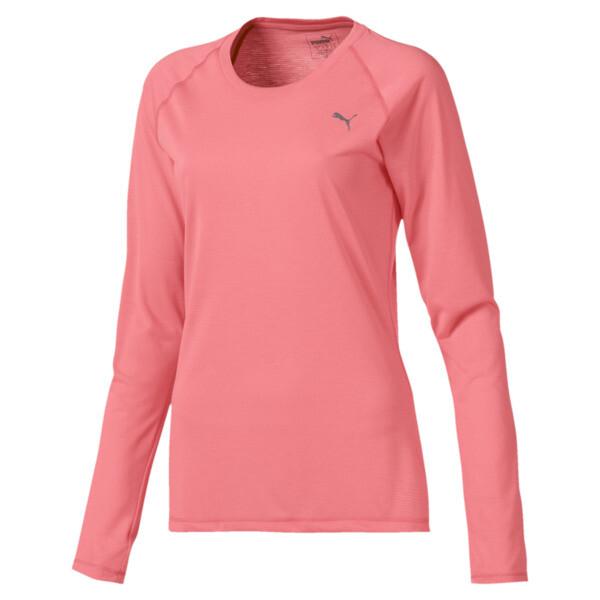Running Damen IGNITE Langarm-Shirt, Bright Peach, large
