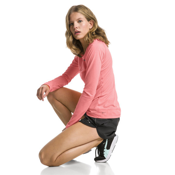 Running Women's IGNITE Long Sleeve, Bright Peach, large