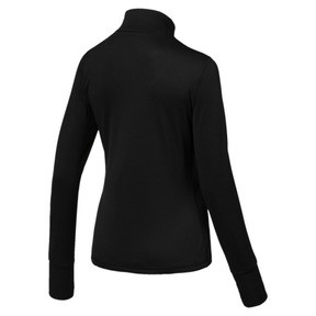 Thumbnail 2 of Running Damen IGNITE Half Zip Pullover, Puma Black, medium
