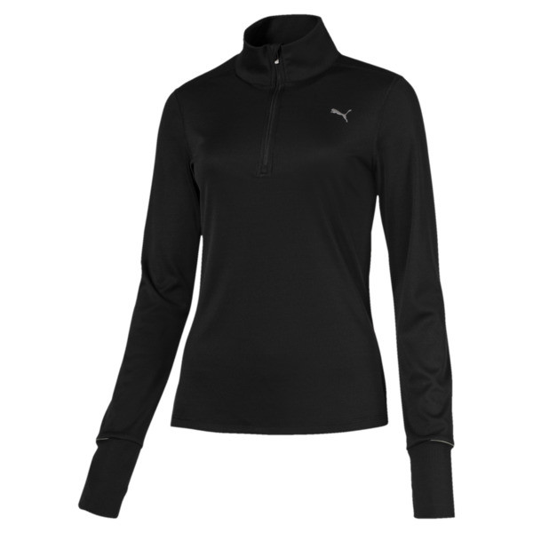Ignite Half Zip Women's Running Pullover, Puma Black, large