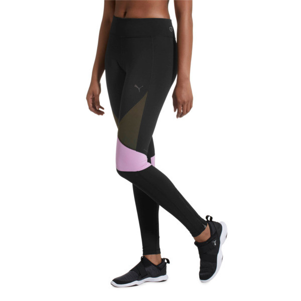 IGNITE Women's Running Tights, Black-Forest Night-Orchid, large