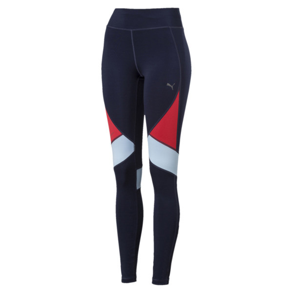 IGNITE Women's Running Tights, Peacoat-Ribbon Red-CERULEAN, large