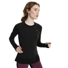 Thumbnail 2 of Running Damen IGNITE Winter Langarm-Shirt, Puma Black, medium