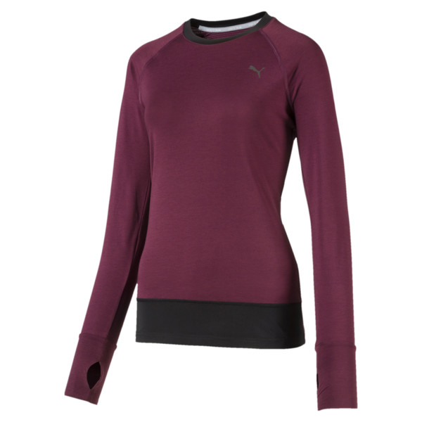 Winter Long Sleeve Women's Training Top, Fig-Puma Black, large