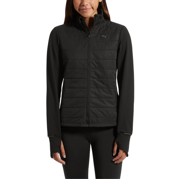 Winter Zip-Up Women's Jacket, Puma Black, large