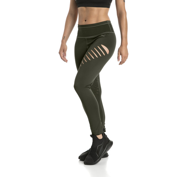 Explosive Women's Slash Tights, Forest Night, large