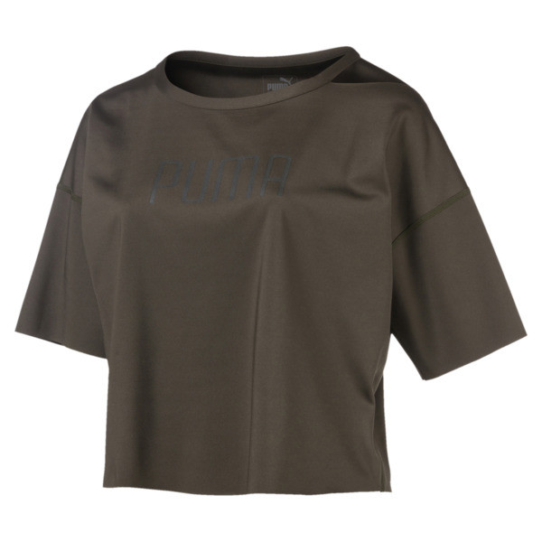 Explosive Cut-Off Women's Top, Forest Night, large