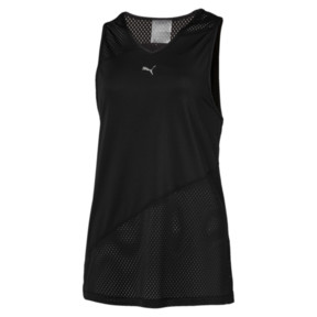 Thumbnail 1 of A.C.E. Mesh Blocked Women's Tank Top, Puma Black, medium