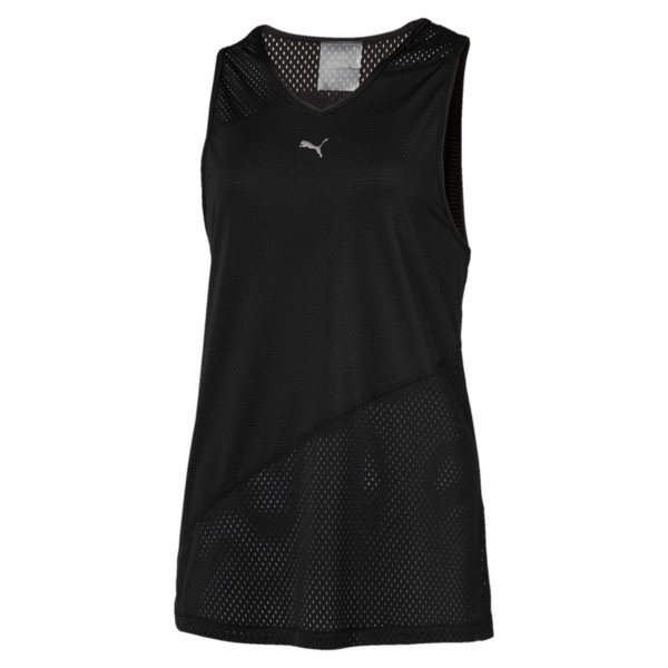 A.C.E. Mesh Blocked Women's Tank Top, Puma Black, large