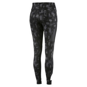 Thumbnail 4 of Training Women's Explosive 7/8 Graphic Tights, Puma Black-iron gate, medium