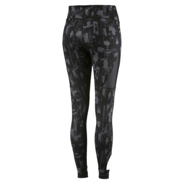 Training Women's Explosive 7/8 Graphic Tights, Puma Black-iron gate, large