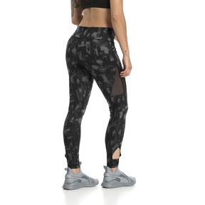 Thumbnail 3 of Training Women's Explosive 7/8 Graphic Tights, Puma Black-iron gate, medium