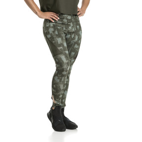 Thumbnail 2 of Training Women's Explosive 7/8 Graphic Tights, laurel wreath-forest night, medium