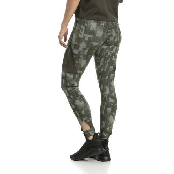 Training Damen Explosive 7/8 Graphic Tight, laurel wreath-forest night, large