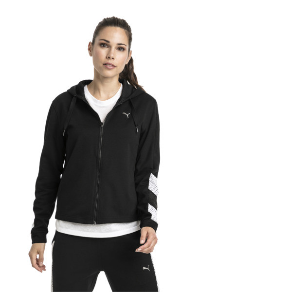 Training Women's A.C.E. Sweat Jacket, Puma Black, large