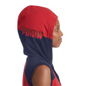 Thumbnail 6 of A.C.E. Sleeveless Women's Hoodie, Ribbon Red-Peacoat, medium
