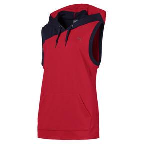 Thumbnail 1 of A.C.E. Sleeveless Women's Hoodie, Ribbon Red-Peacoat, medium