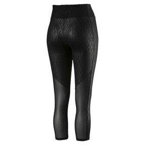 Thumbnail 3 of Always On Graphic 3/4 Women's Tights, Puma Black-Emboss, medium