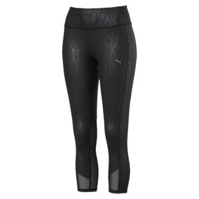 Thumbnail 1 of Always On Graphic 3/4 Women's Tights, Puma Black-Emboss, medium