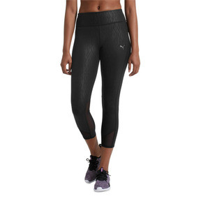 Thumbnail 2 of Always On Graphic 3/4 Women's Tights, Puma Black-Emboss, medium