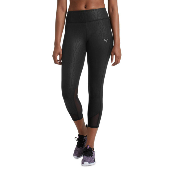 Always On Graphic 3/4 Women's Tights, Puma Black-Emboss, large