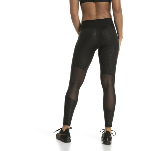 Always On Graphic 7/8 Women's Tights, Puma Black-Emboss, large