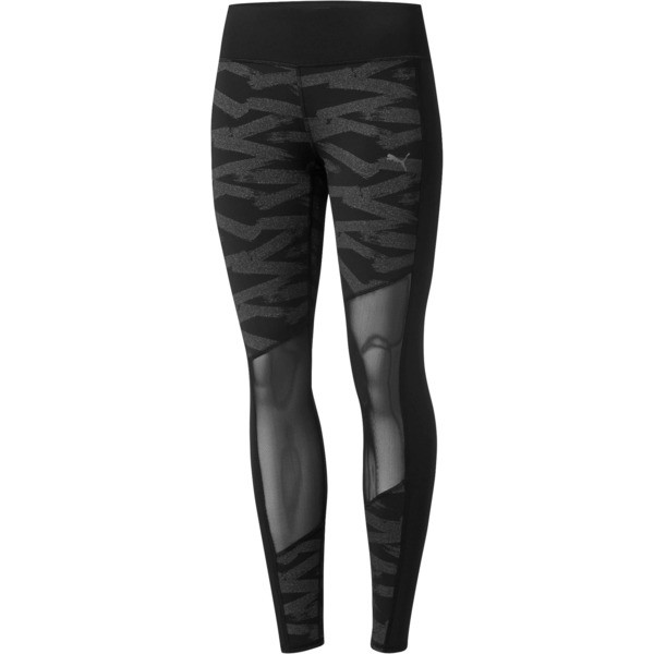 dd32e39592 Always On Graphic 7/8 Women's Tights, Puma Black-Metallic Silver, large