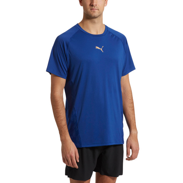 VENT Short Sleeve Men's Training Top, Sodalite Blue, large