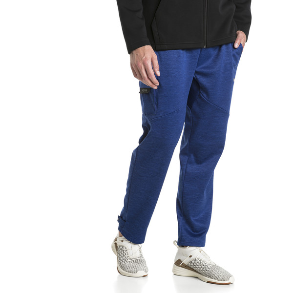 BND Tech Trackster Men's Sweatpants, Sodalite Blue Heather, large