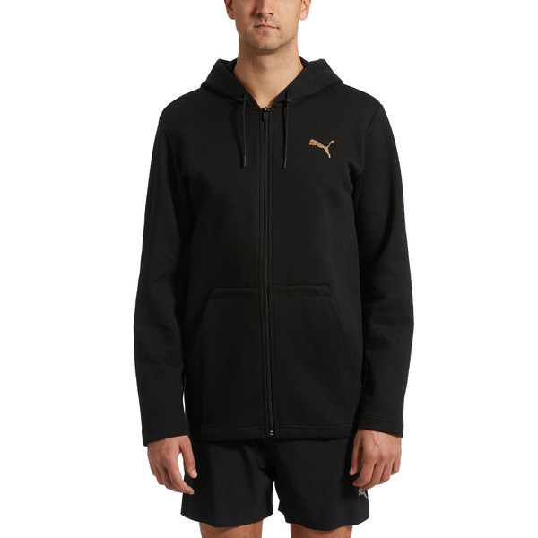 VENT Zip-Up Hooded Men's Jacket, Puma Black, large
