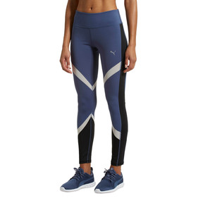 Thumbnail 2 of CLASH Blocking Tights, Blue Indigo-Puma White, medium
