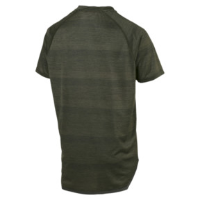 Thumbnail 2 of NeverRunBack VIZ Men's Training Tee, Forest Night Heather, medium