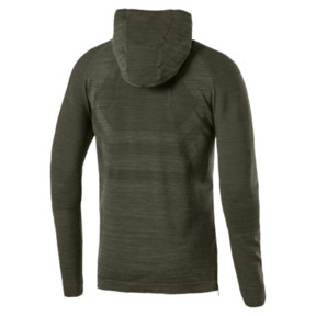 Thumbnail 4 of Energy evoKNIT Full Zip Hooded Running Jacket, Forest Night Heather, medium