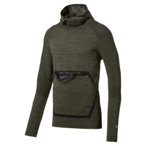 Thumbnail 1 of Energy evoKNIT Full Zip Hooded Running Jacket, Forest Night Heather, medium