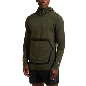 Thumbnail 2 of Energy evoKNIT Full Zip Hooded Running Jacket, Forest Night Heather, medium