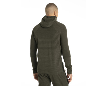 Thumbnail 3 of Energy evoKNIT Full Zip Hooded Running Jacket, Forest Night Heather, medium