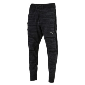 Thumbnail 1 of Energy evoKNIT Trackster Men's Running Sweatpants, Puma Black Heather, medium
