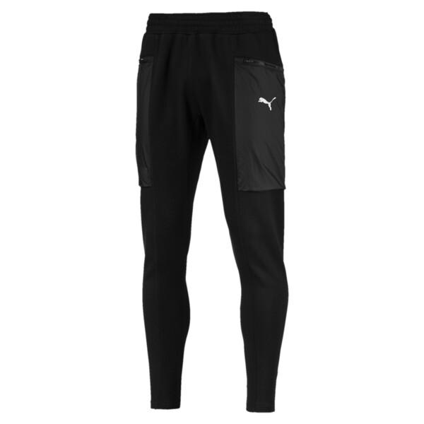 Energy Actum Men's Running Sweatpants, Puma Black, large