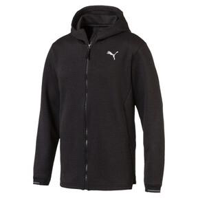 Thumbnail 1 of Energy Zip-Up Hooded Men's Running Jacket, Puma Black Heather, medium