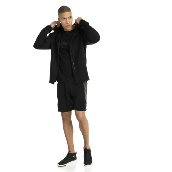 Energy Zip-Up Hooded Men's Running Jacket, Puma Black Heather, large