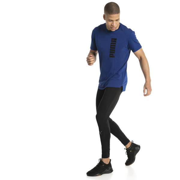 Energy Triblend Graphic Men's Running Tee, Sodalite Blue, large