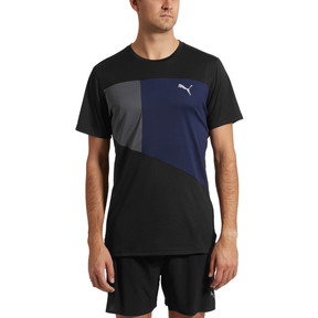Thumbnail 2 of IGNITE Short Sleeve Men's Running Tee, Puma Black-Peacoat-Q4, medium