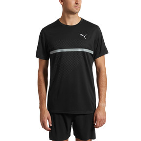 Thumbnail 2 of IGNITE Graphic Men's Running Tee, Puma Black-Iron Gate printQ4, medium