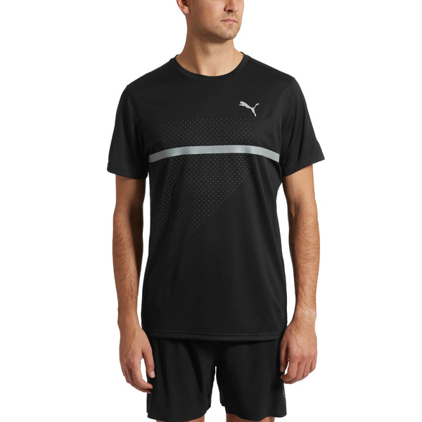 IGNITE Graphic Men's Running Tee, Puma Black-Iron Gate printQ4, large
