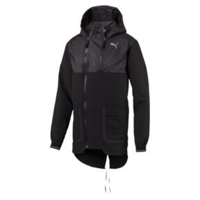 Thumbnail 1 of NeverRunBack Protect Zip-Up Hooded Men's Jacket, Puma Black, medium